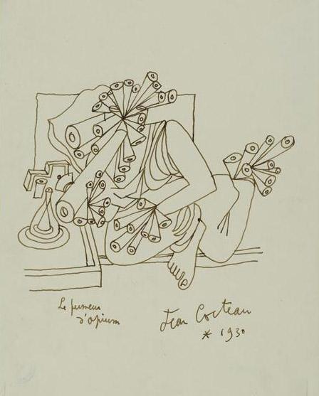 """Résultat de recherche d'images pour """"cocteau le fumeur d'opium"""""""