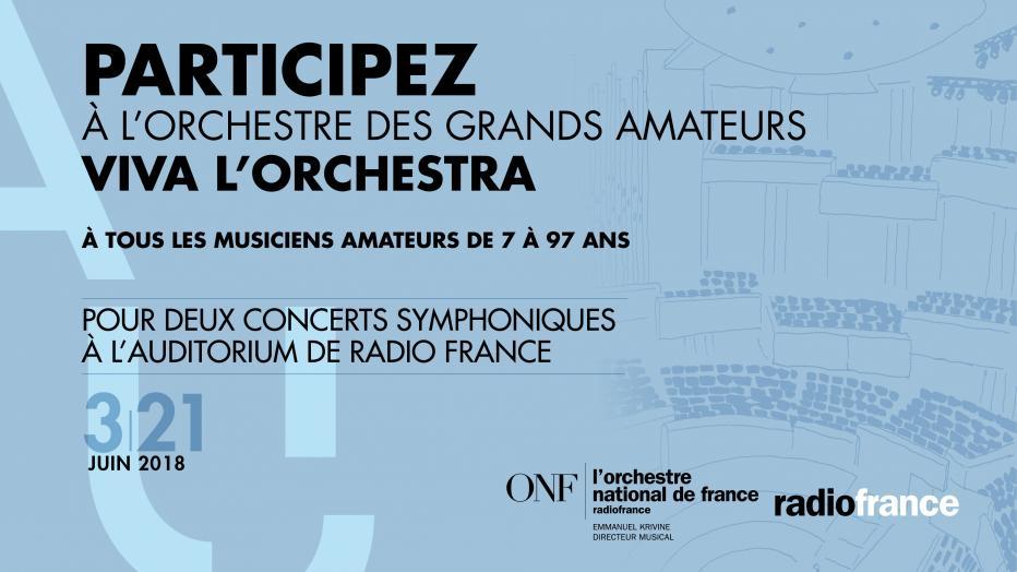 Viva l'Orchestra 2018 recrute ! | Maison de la Radio